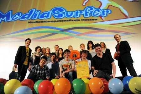 Das Umlauf-TV-Team beim obligatorischen Siegerfoto